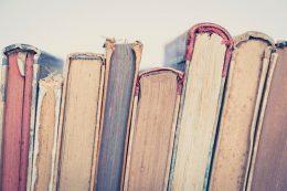 old books - vintage books closeup